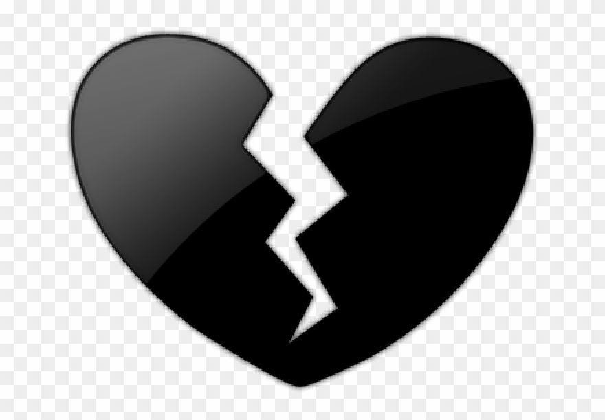 Black Heart Clipart Emoji Black Heart Broken Png Plant Color