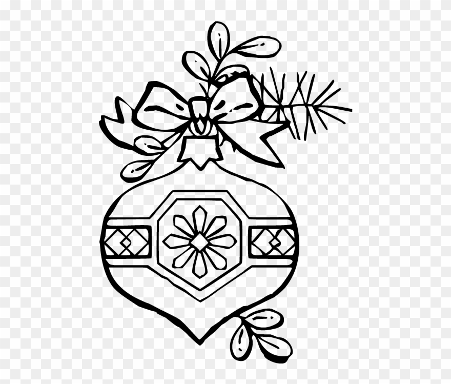 Christmas Ornament Ornament Coloring Pages Clipart 94385