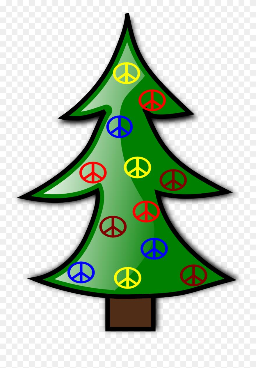 Peace Christmas Sign.Tree Christmas 8 Xmas Peace Symbol Sign Christmas Clip