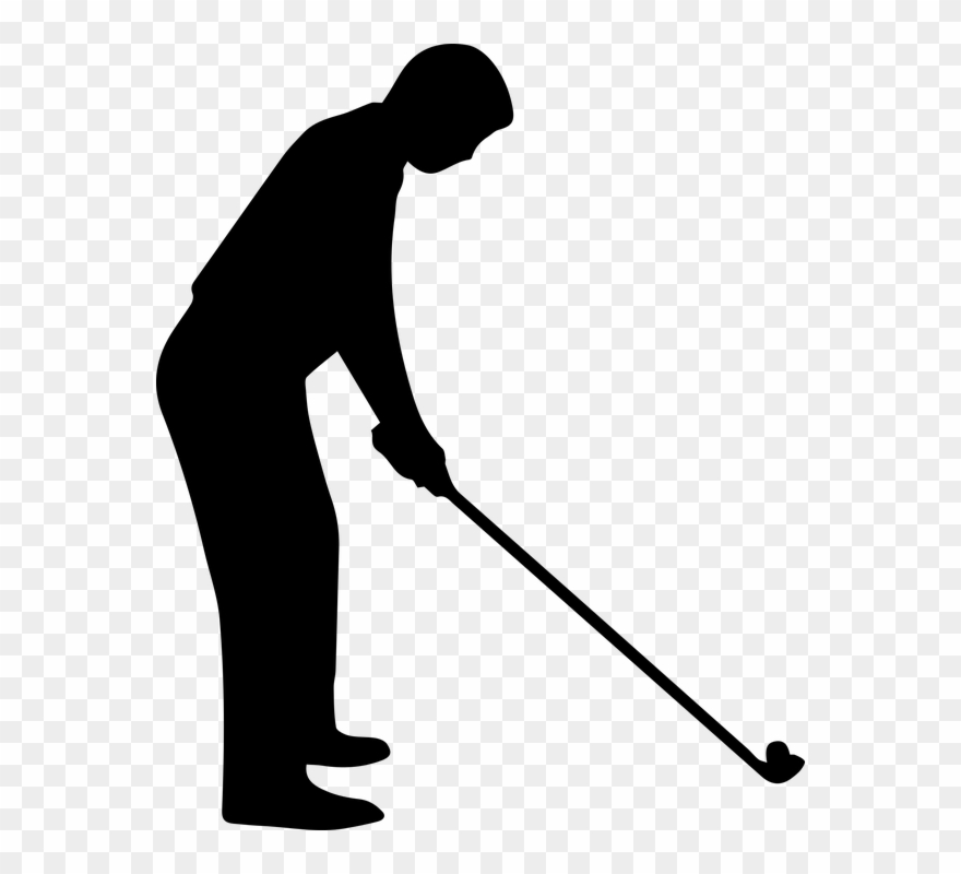 Golf Black And White Free On Dumielauxepices Silhouette Of Golfer Clipart 95478 Pinclipart