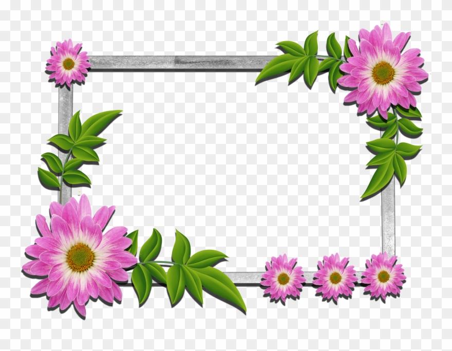 Psd Flower Frames Free Download Clipart 96535 Pinclipart