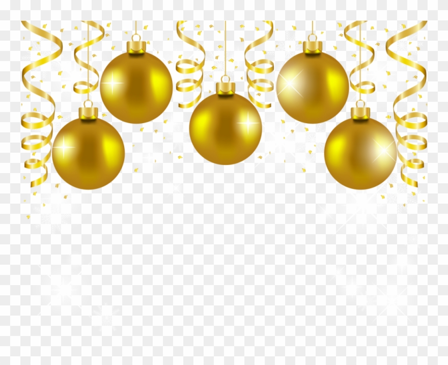 Christmas Decorations Png.Download Gold Christmas Balls Png Clipart Christmas Gold