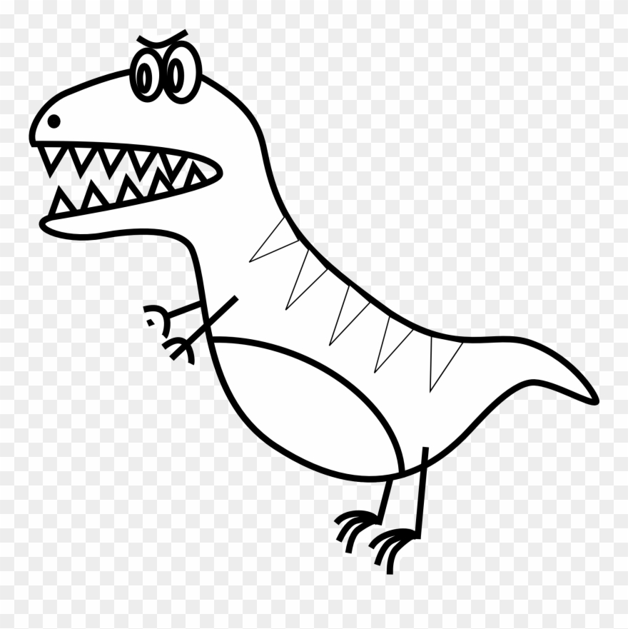 Simple Line Drawings Of Animals T Rex Clip Art Png Download 96840 Pinclipart