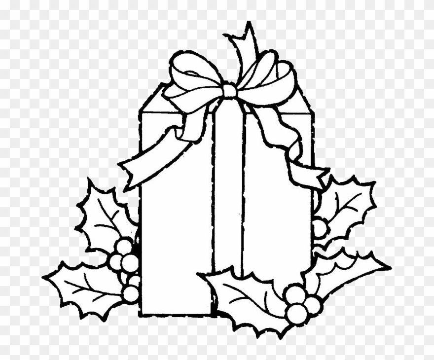 Clip Art Black And White Library Christmas Present