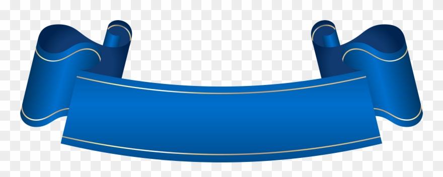 Banner blue. Transparent clip art ribbon