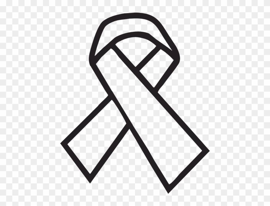 Cancer Ribbon Outline Cancer Ribbon Clip Art Transparent Png