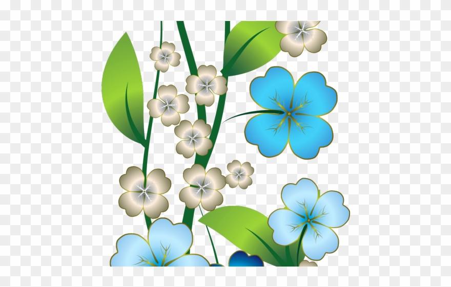 flower border flower background flower line clipart - Green, Flower, Plant,  transparent clip art