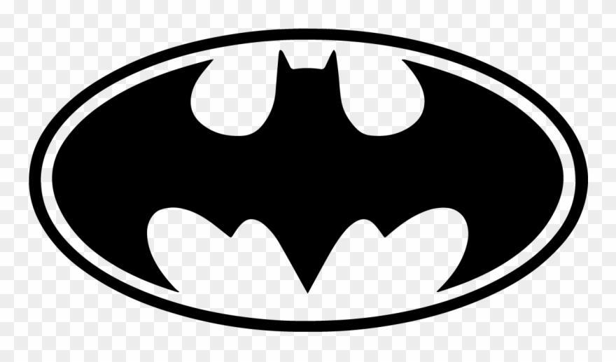 Batman Bat Signal Logo White Black Vector Symbol Batman Logo Decal