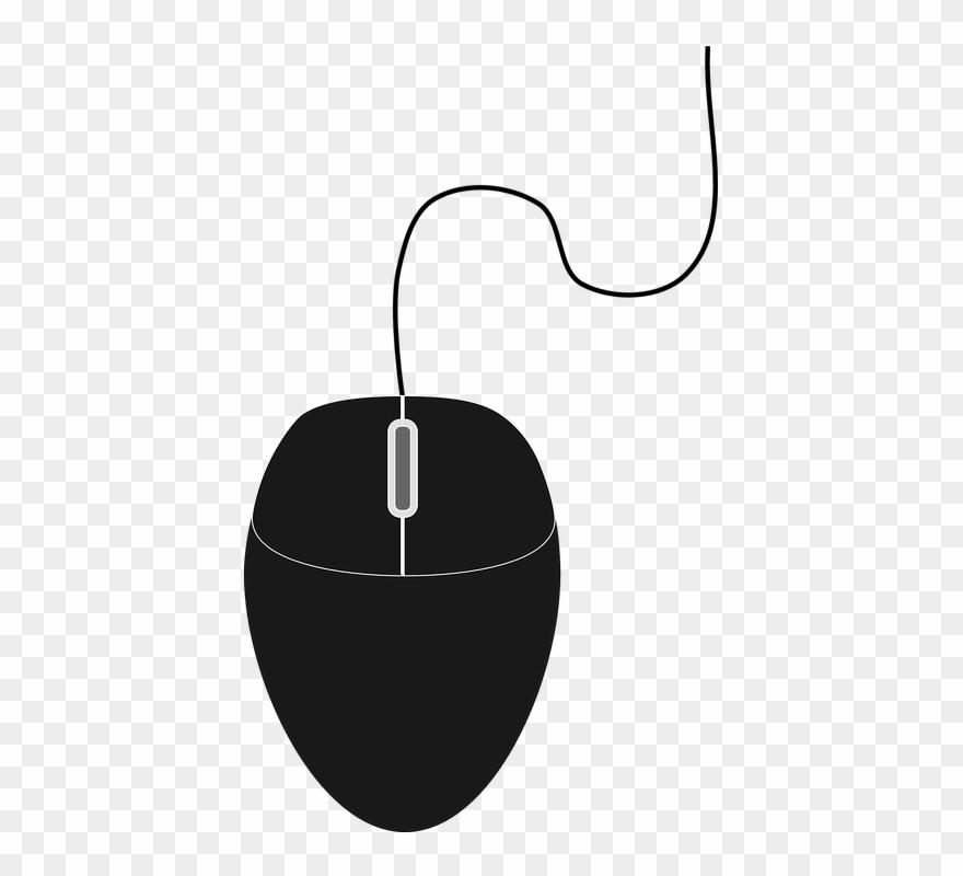 Free Vector Graphic Gambar Mouse Komputer Hitam Putih Clipart