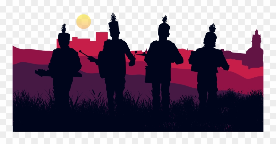 Image Royalty Free Stock Band Vector Music Crowd - Marching