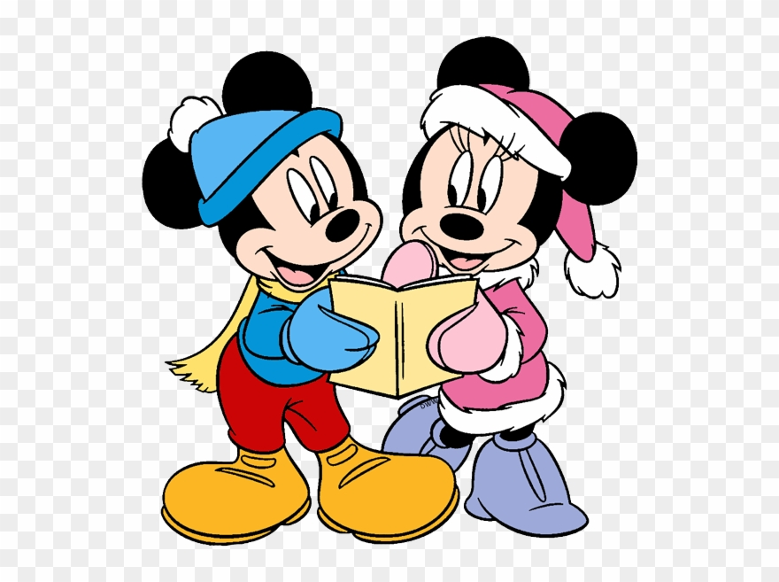 Mickey, Minnie Mouse Singing Carols - Mickey Christmas Coloring Page  Clipart (#906897) - PinClipart
