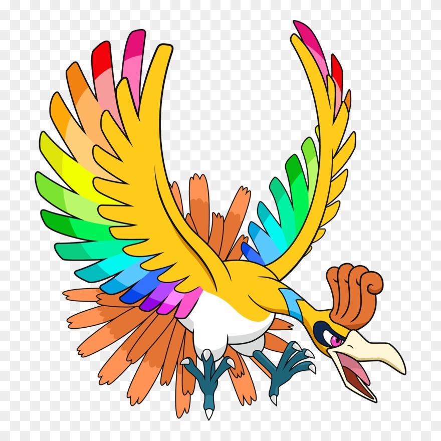 Rainbow Form Ho Oh Clipart (#908806)
