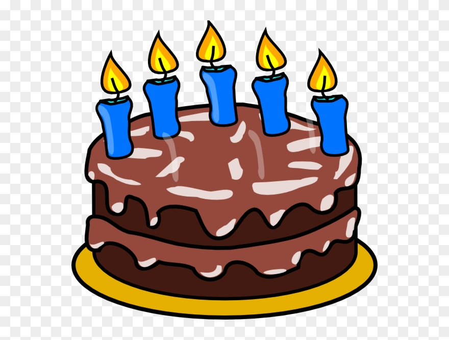 5 Birthday Candle Png Happy Birthday Clipart Transparent Png