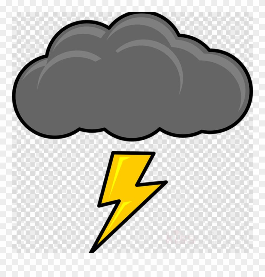 Cartoon clouds thunderstorm cloud. Thunder clipart lightning clip