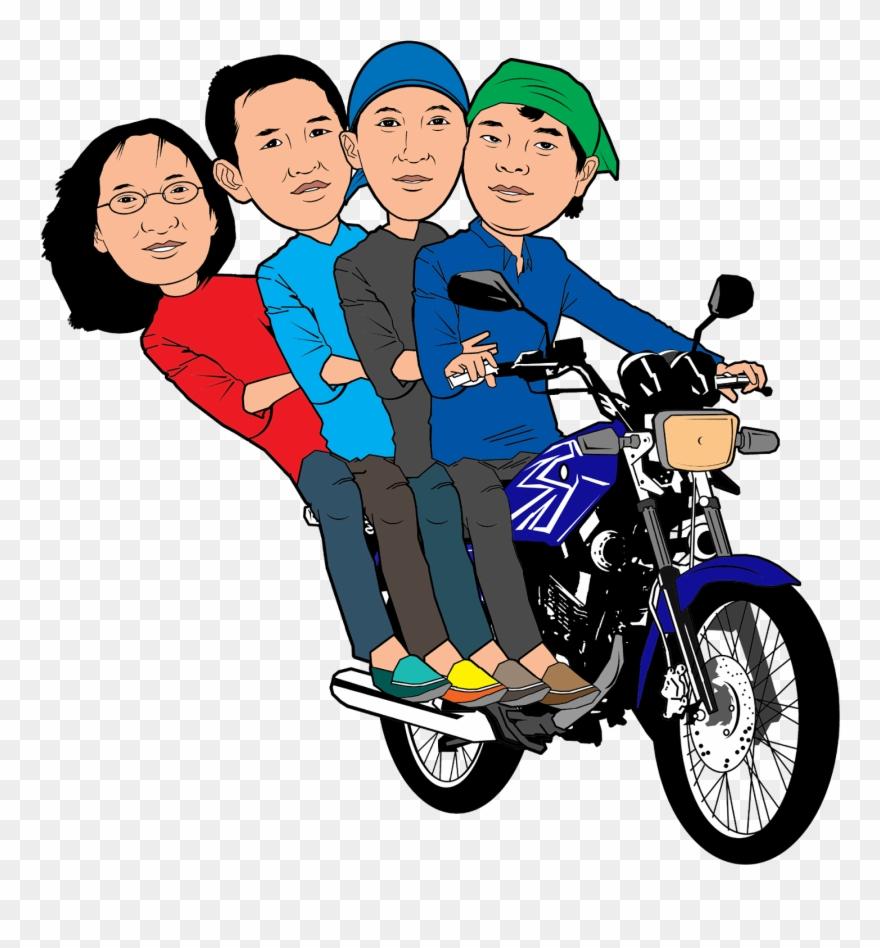 Karikatur Bermotor Kartun Naik Motor Png Clipart 918430 Pinclipart
