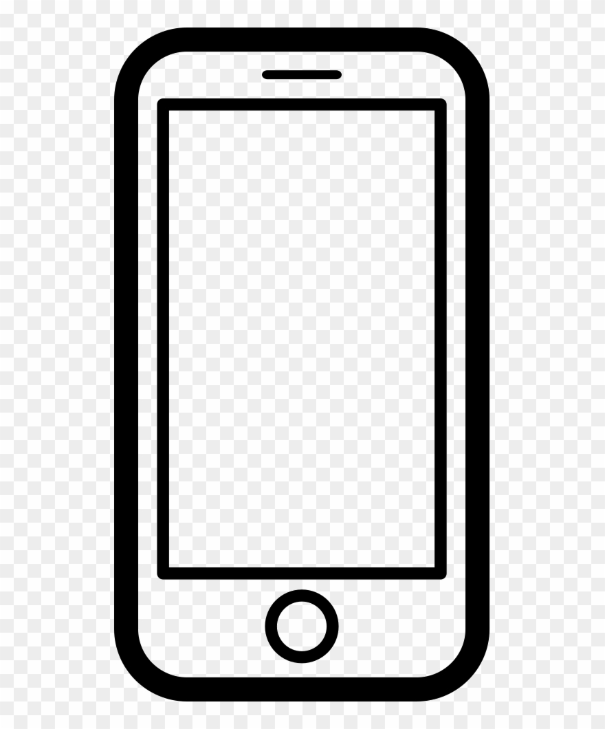 Graphic Download Black And White Smartphone Clipart - Mobile Phone - Png Download