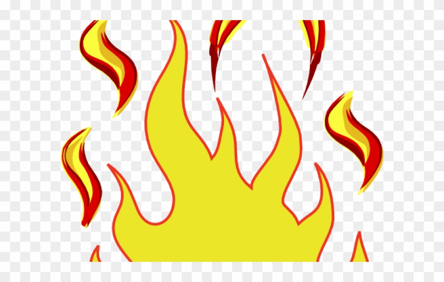 Fire Flames Clipart Outline Flames Clip Art Png Download 921674 Pinclipart