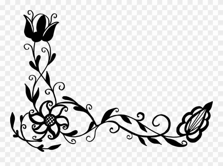flower floral clip art vector corner png transparent png 924482 pinclipart flower floral clip art vector corner