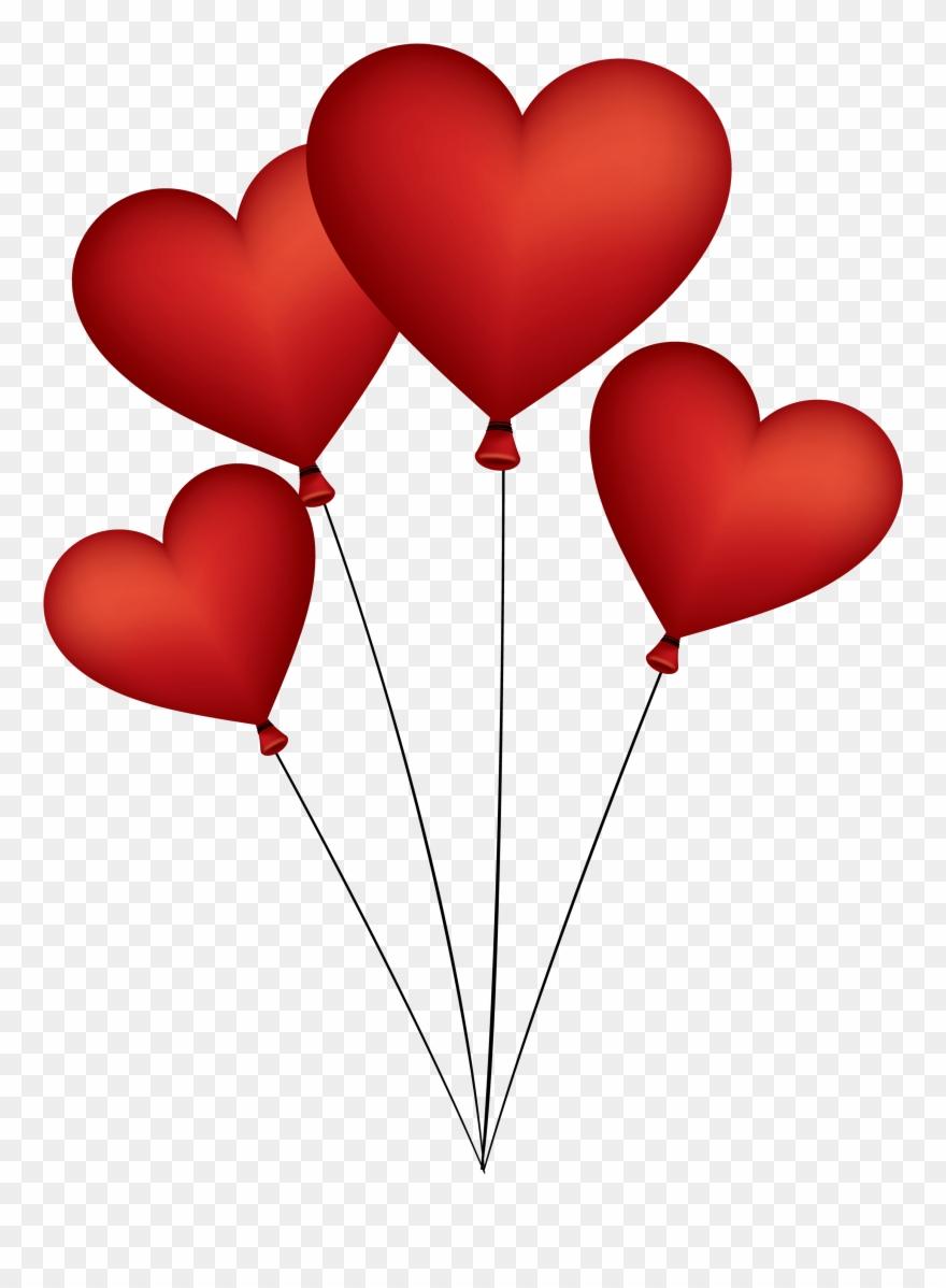 Love Heart Balloon Png Clipart