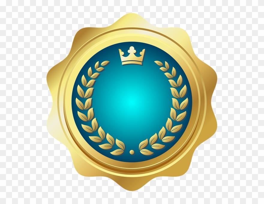 30693eb8aa19 Seal Badge Blue Png Transparent Clip Art - Clipart Transparent Seal Badge  Mauve   Gold Png
