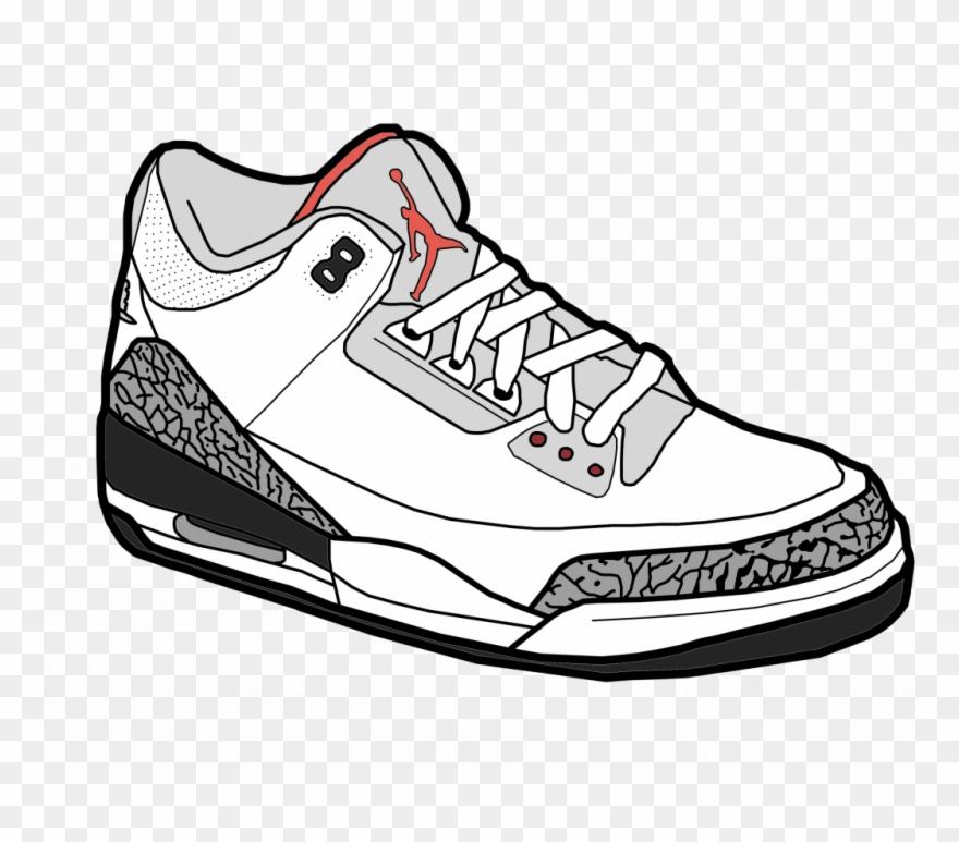 the best attitude 19b30 740eb Best Jordan Drawing Vector Images Stocks And - Cartoon Jordans Png Clipart