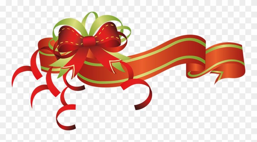 Christmas Graphics Clip Art.Christmas Border Christmas Flowers Clip Art Ribbons