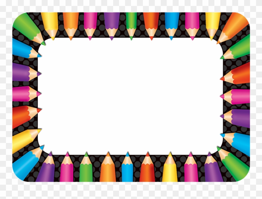 Tcr5513 Colored Pencils Name Tags/labels Image - Name Tags For Grade 4 Clipart