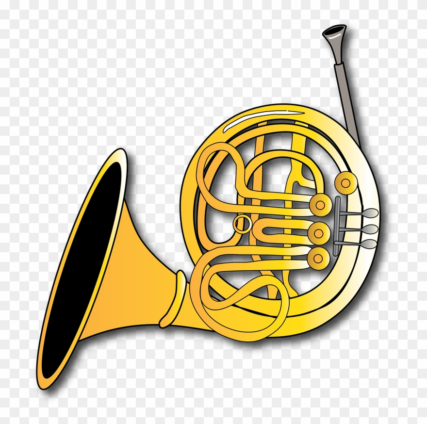 Horn Clipart Instument - Graphic Design - Png Download