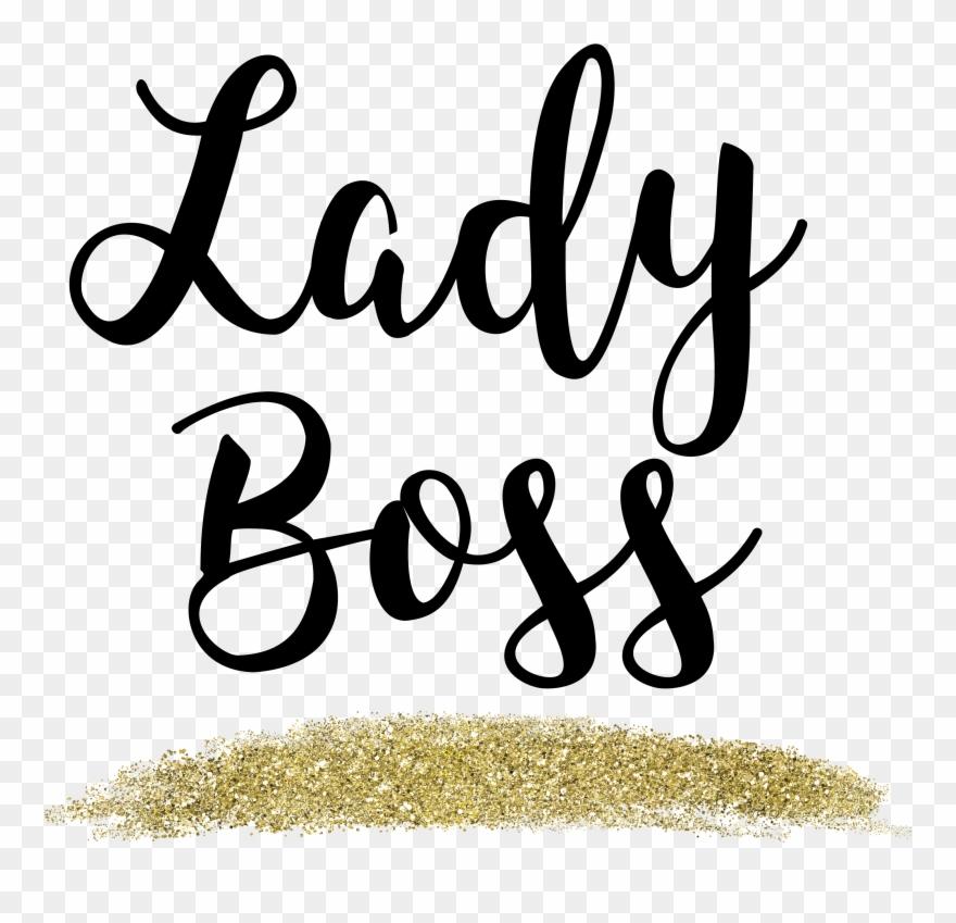 Lady Boss Gold Glitter Web Flair Graphic Free Boss Lady