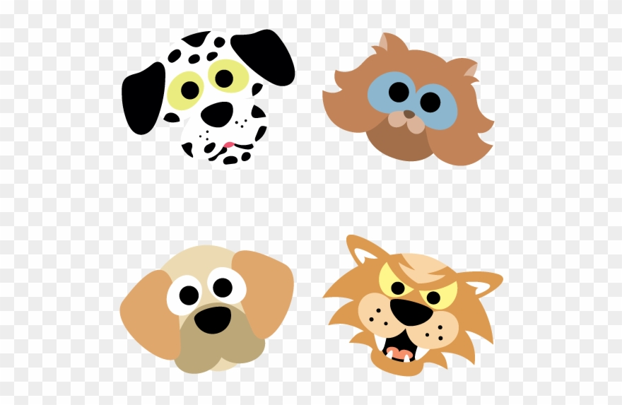 graphic relating to Dog Mask Printable identified as Printable Cats And Pet dogs Masks - Cats Pet dogs Clipart (#943635