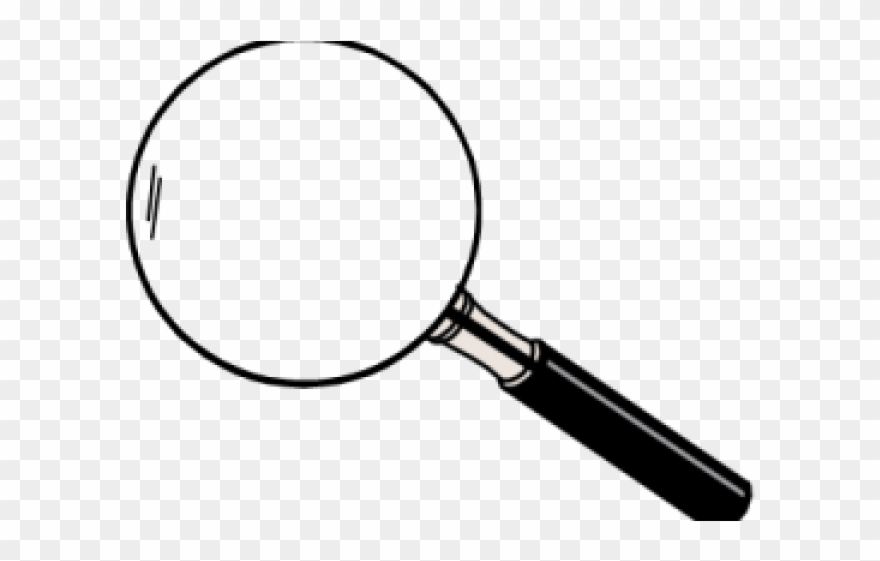 Magnifying glass translucent PNG Free Download.