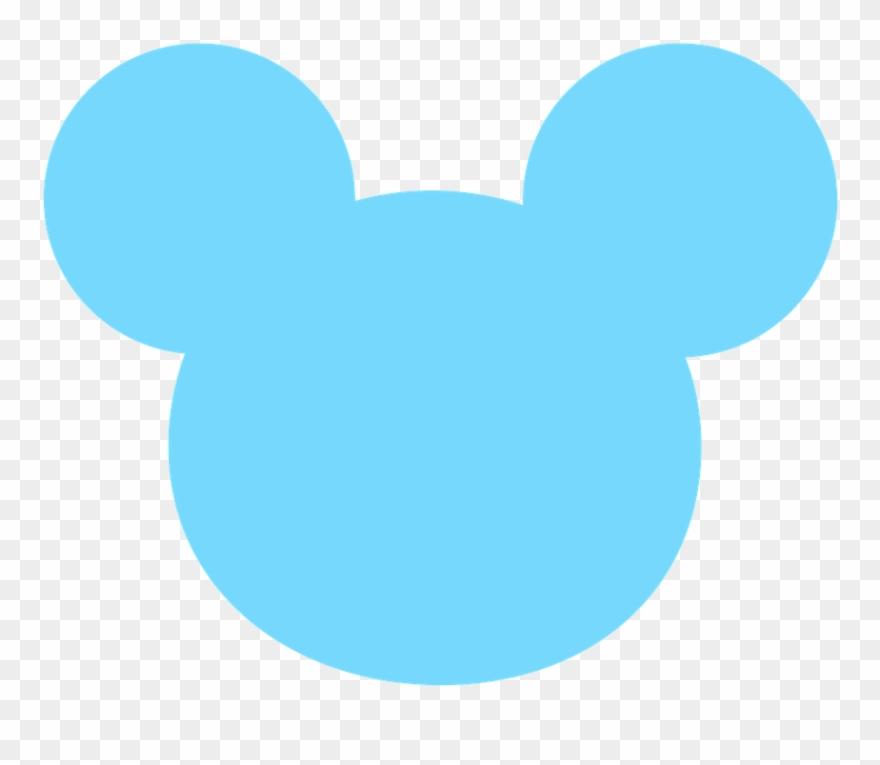 Baby blue. Mickey e minnie head