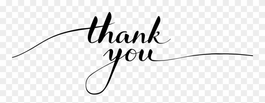 Thank You Script Thank You Script Png Clipart 957004 Pinclipart