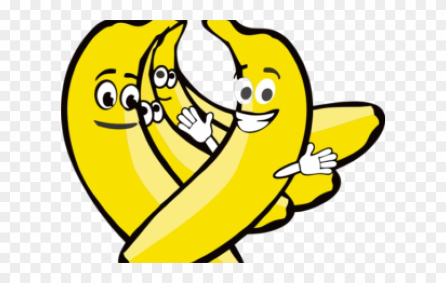 Banana smiley. Clipart with face png