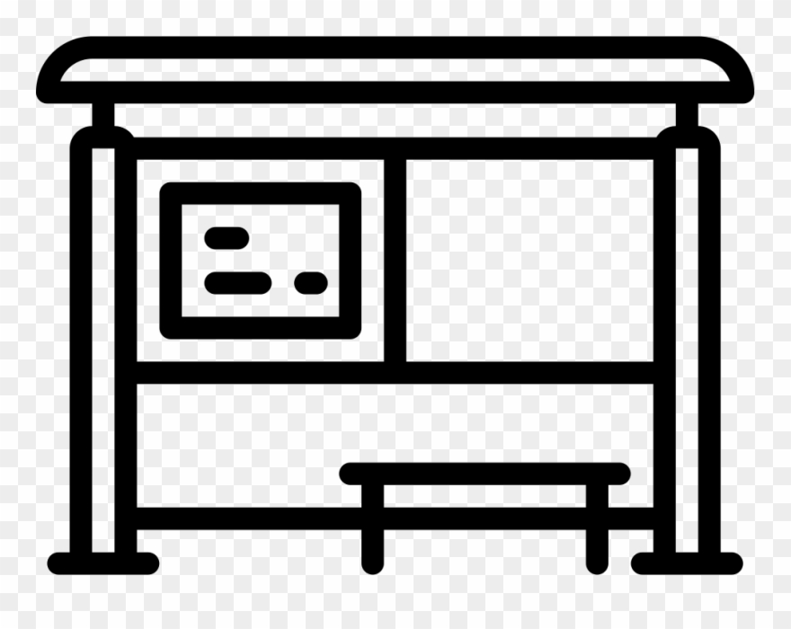 Bus Shelter Png - Bus Stop Icon Png Clipart (#966656