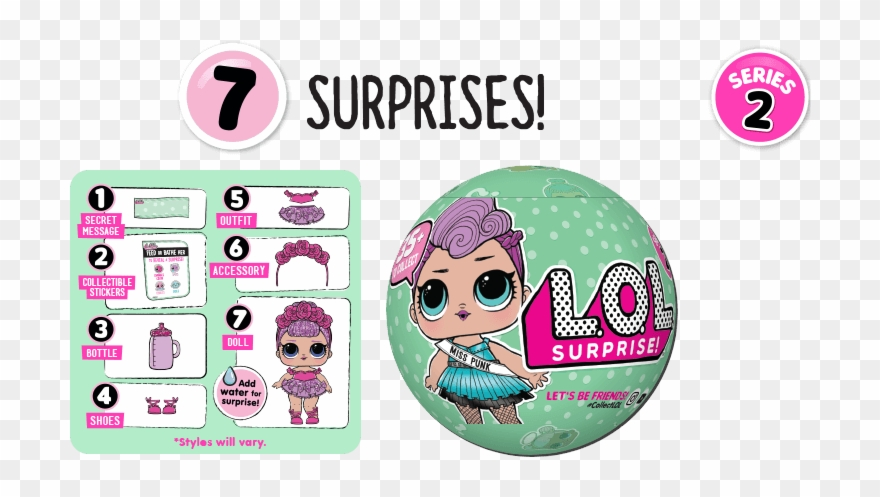 2 Of 3 New Lol Surprise Doll Lil Sisters L O L Surprise Doll Series 1 3 Pack Clipart 970935 Pinclipart