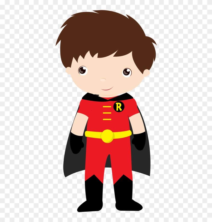 Batman Robin Super Heroi Em Desenho Baby Clipart 975772