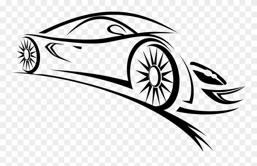 Sports Car Clipart Black And White Car Vector Logo Png Transparent Png 979560 Pinclipart