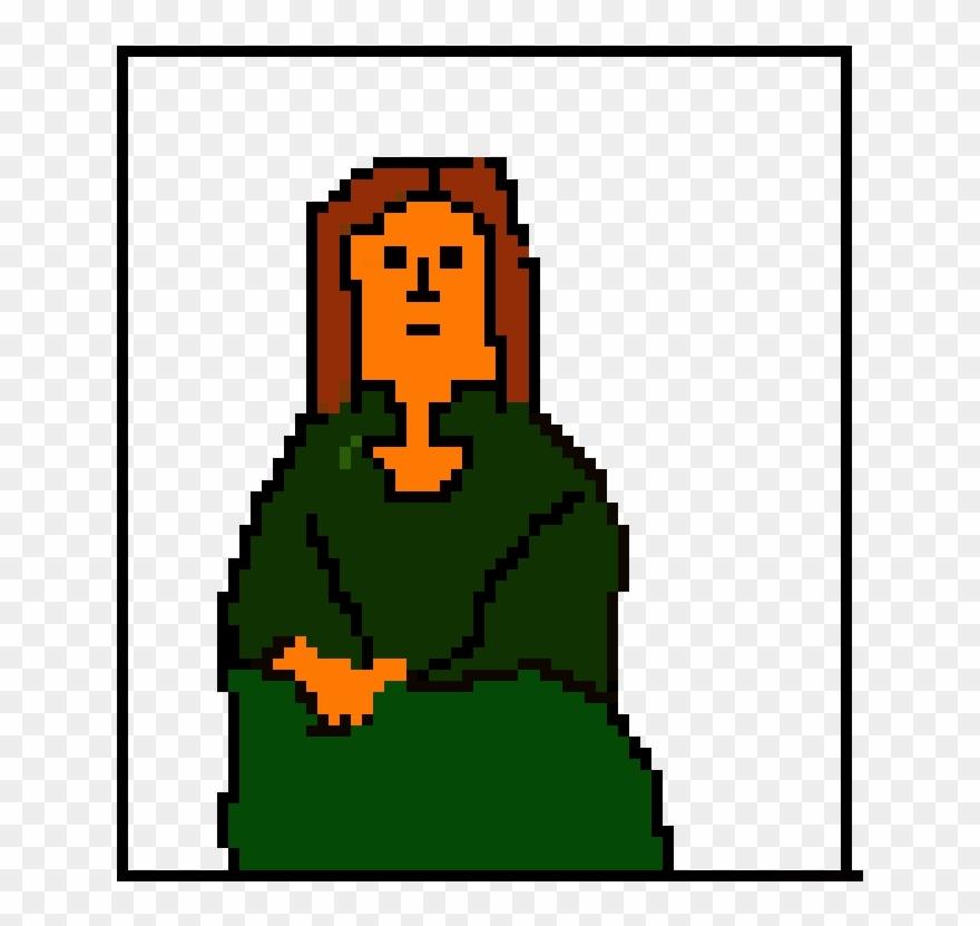 Mona Lisa Pixel Art Maker - Mona Lisa Clipart (#983859) - PinClipart