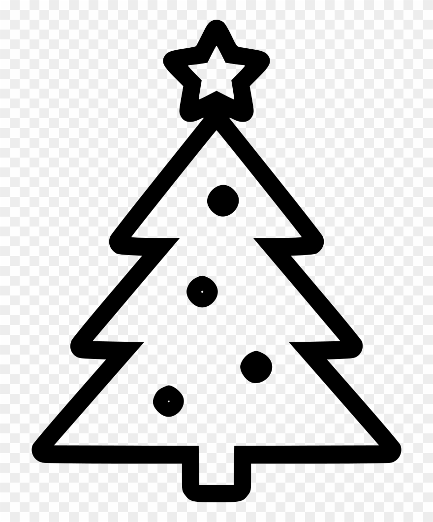 Christmas Tree Clipart Black And White.Day Free Transparent Png Clipart Christmas Tree Icon Png