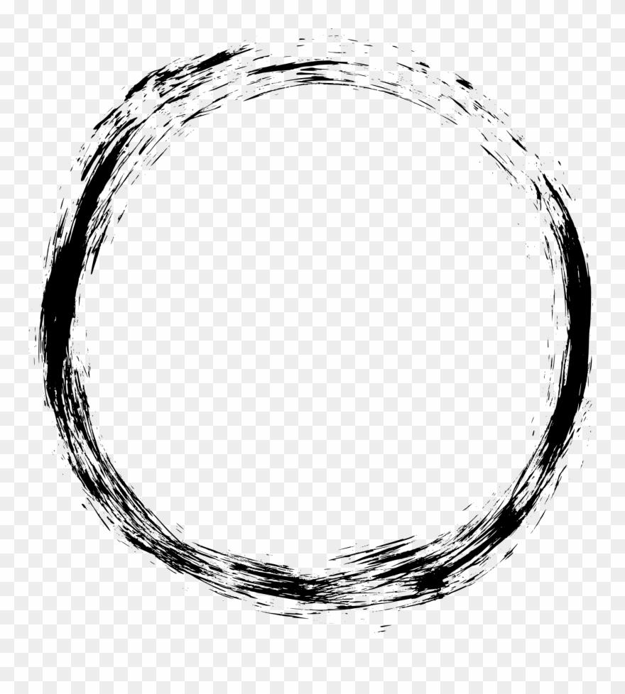 Grunge Frame Transparent - Grunge Circle Frame Png Clipart