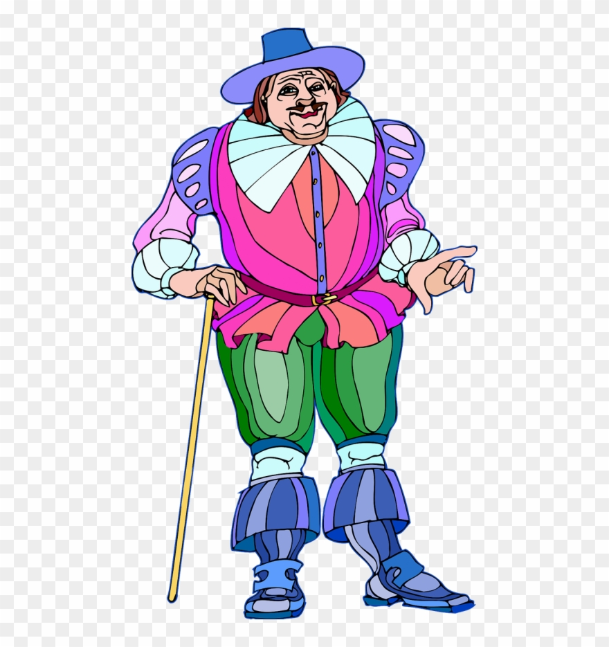 Shakespeare Characters Falstaff (colour) Clipart (#995882) - PinClipart
