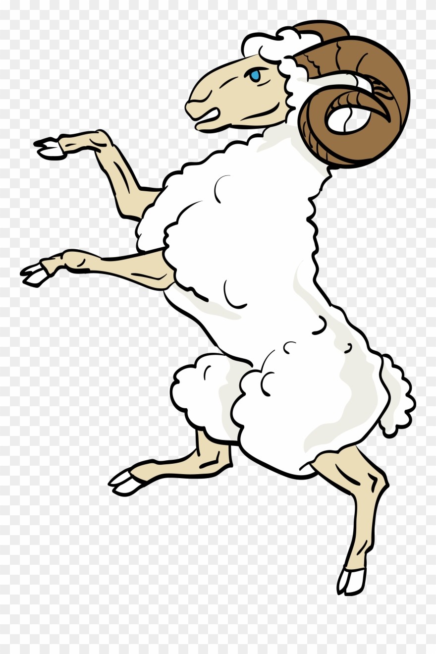 Ram - Sheep Coat Of Arms Clipart