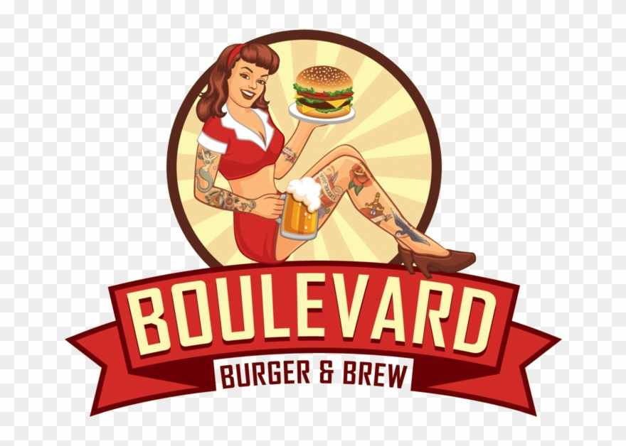 Clipart Free Library Boulevard Burger Brew - Boulevard Burger And Brew - Png Download