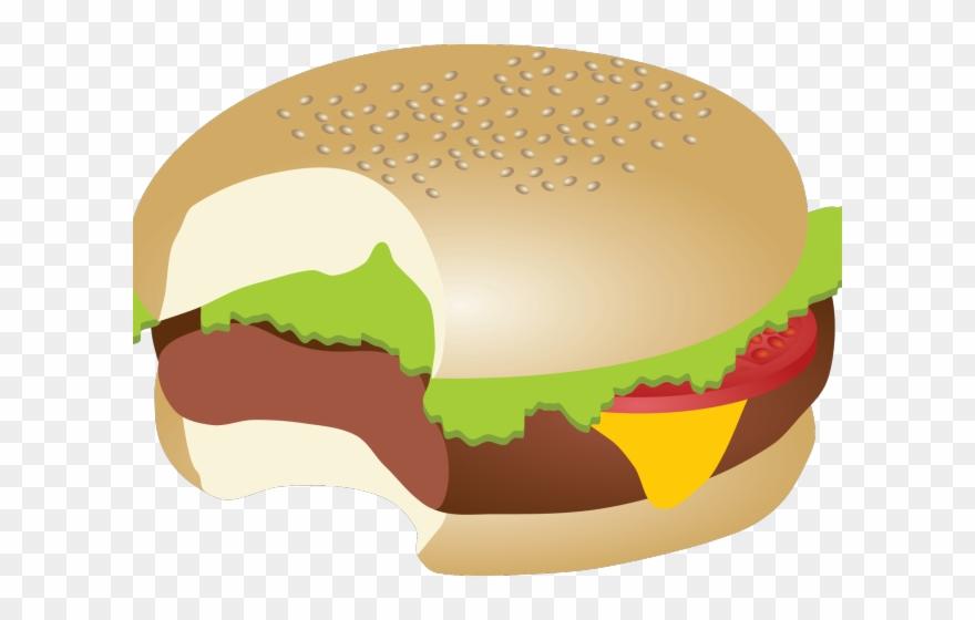 Hamburgers Clipart Bite - Burger Bite Clipart - Png Download